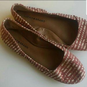 Lucky brand boho pattern ballet flats